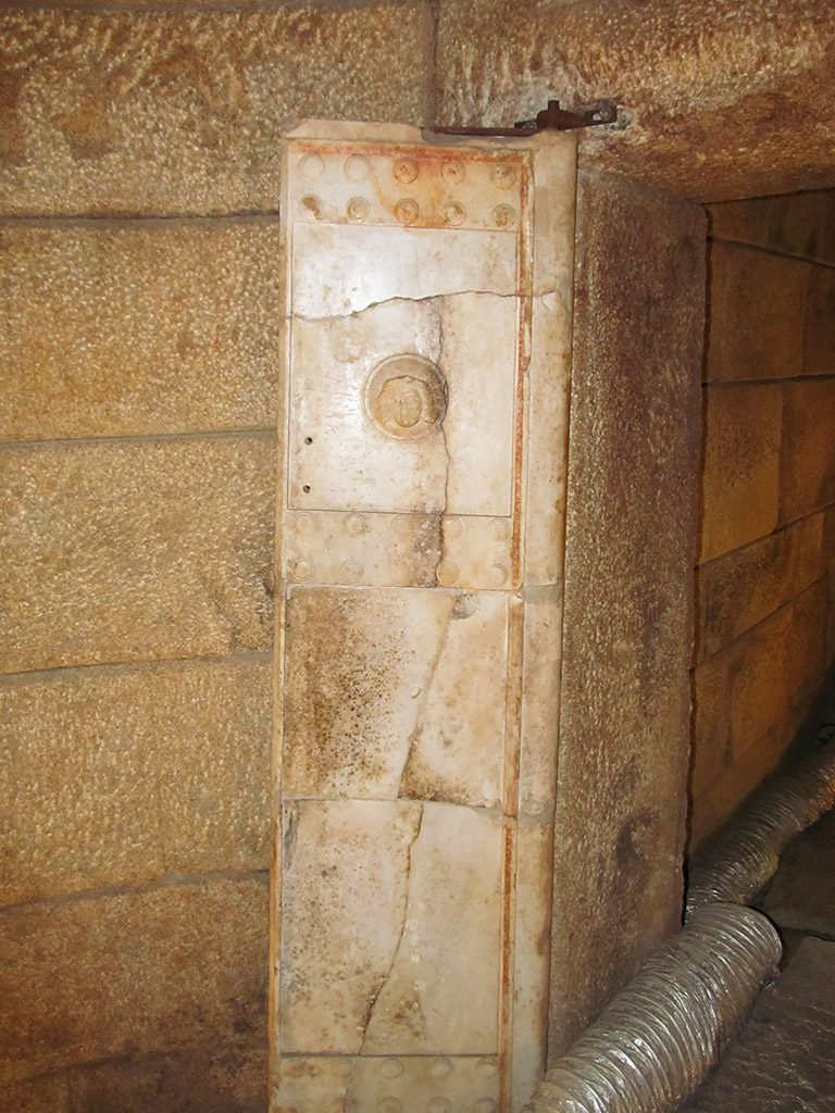 The Thracian tomb-temple Goliama Kosmatka - marble door of the temple