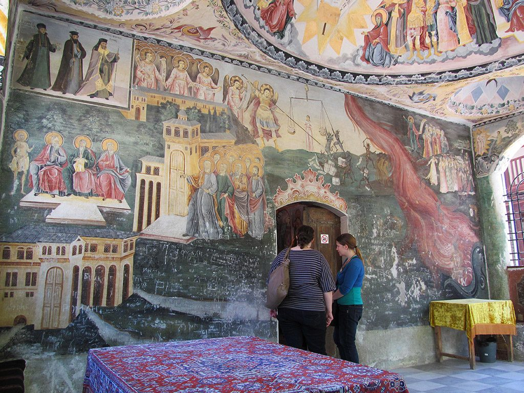 Bachkovo Monastery - Doomsday fresco at the entrance of St. Nicolas Church