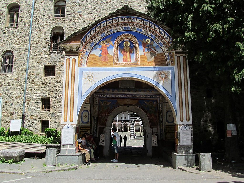 The western gate to the monastery