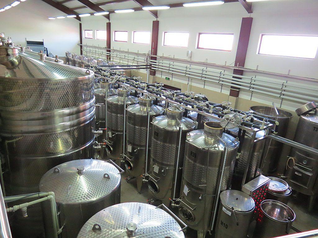 Villa Yustina boutique winery - fermentation room