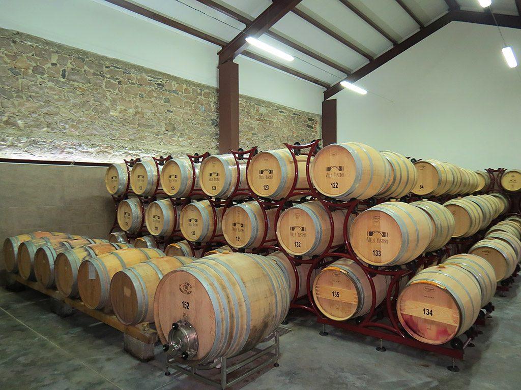 Villa Yustina boutique winery - barrels room