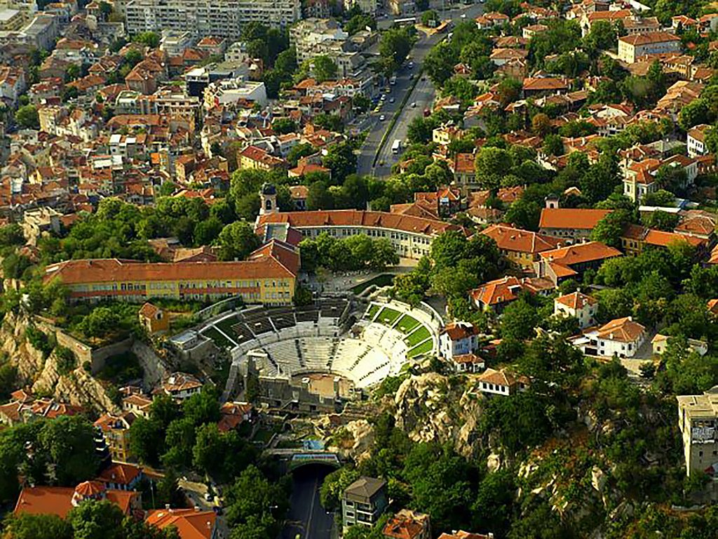 The Ancient Theatre - bird's eye view
