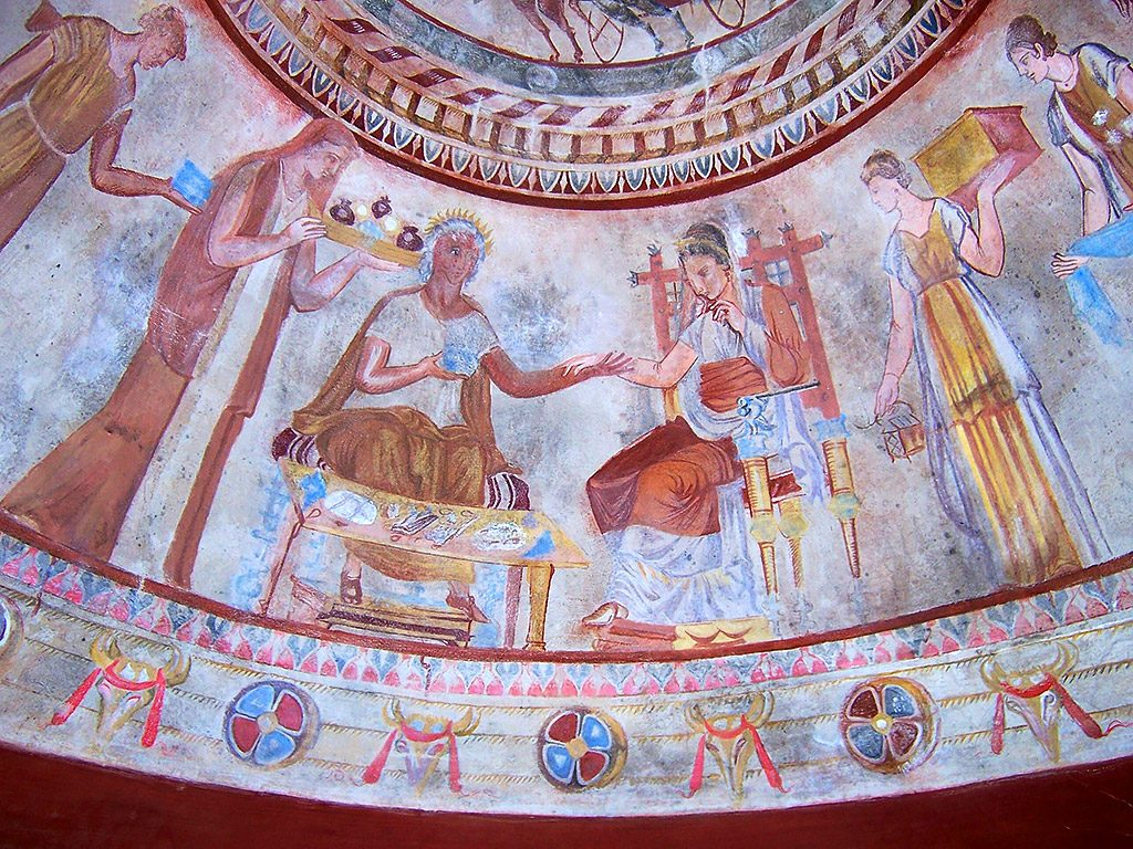 The  Thracian tomb of Kazanlak - mural