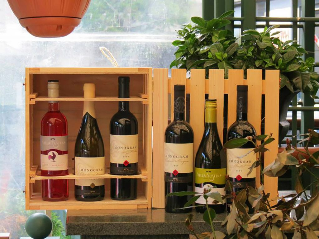 Villa Yustina boutique winery - wine collection