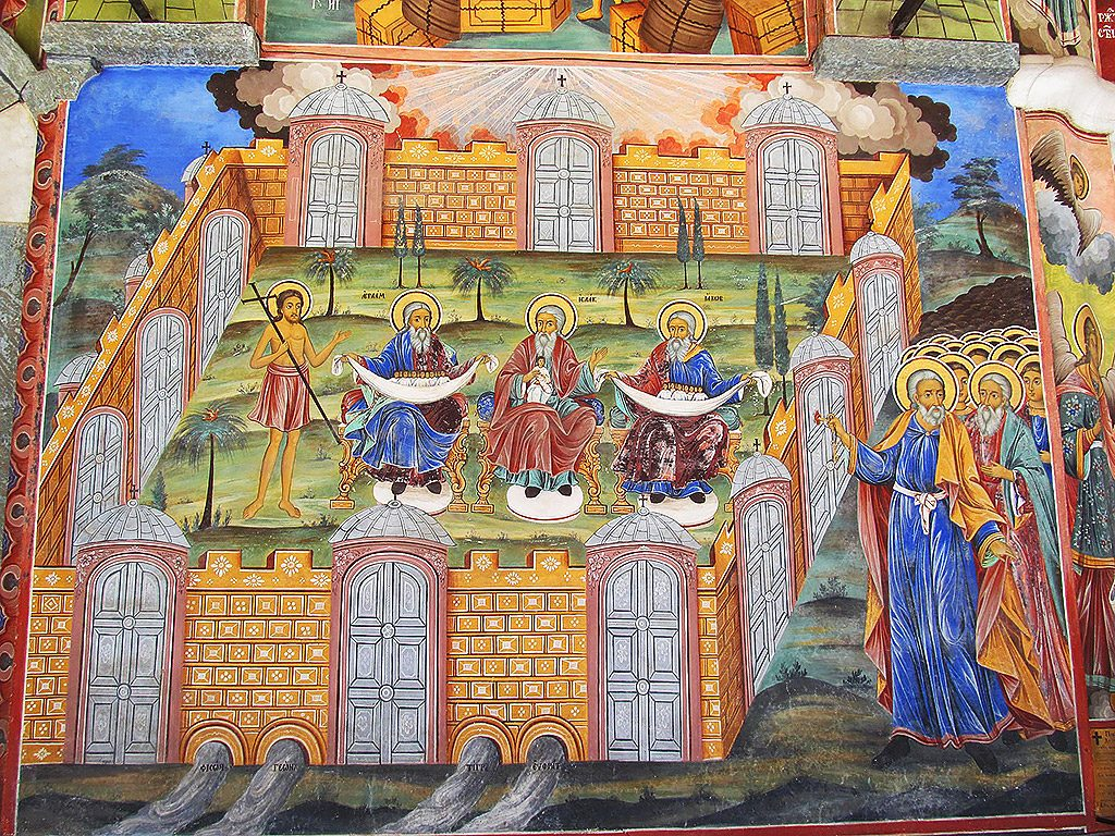 Heaven's gates fresco
