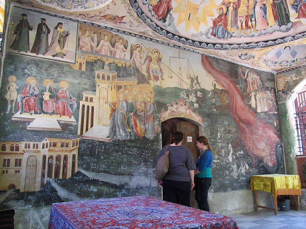 Bachkovo Monastery - Doomsday fresco at the entrance of St. Nicolas Church